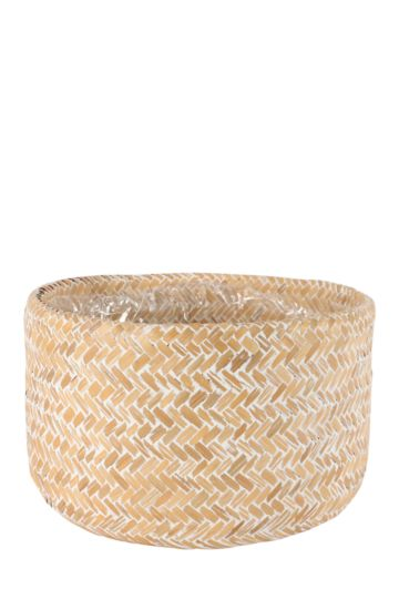 Rustic Woven Wash Planter Large