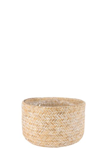 Rustic Woven Wash Planter Medium