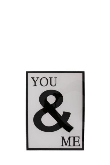 You And Me Glass Plaque