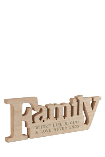 Family Standing Plaque