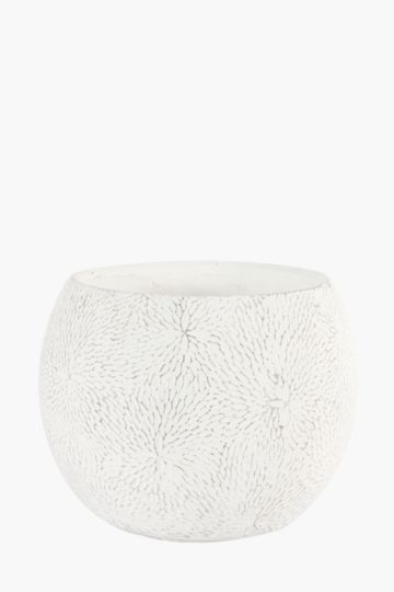 Round Floral Embossed Planter Large