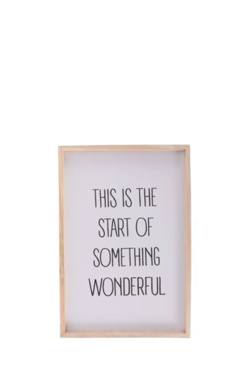 The Start Of Something Wonderful Hanging Plaque