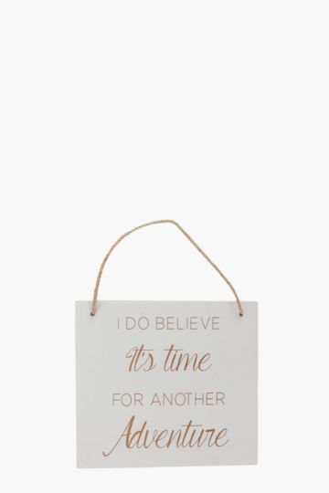 Time For Adventure Hanging Plaque