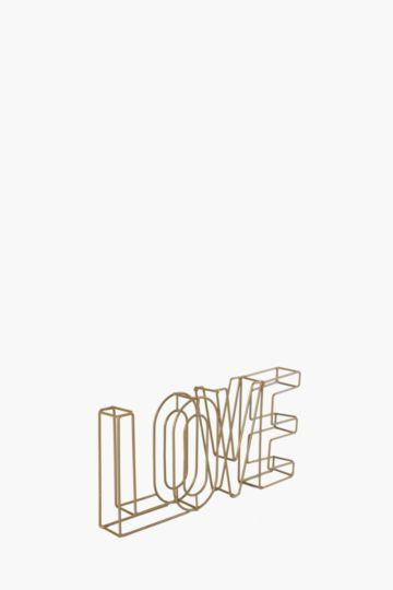 Wire Love Decor Sign