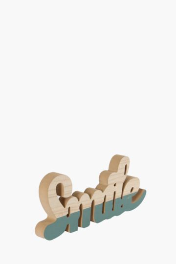 Smile Hanging Decor Sign