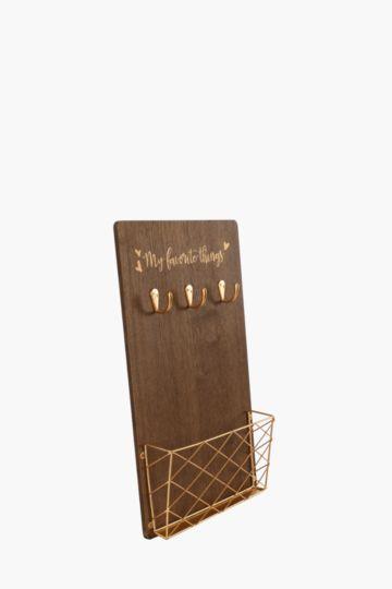 Script Wood Wall Hook And Rack