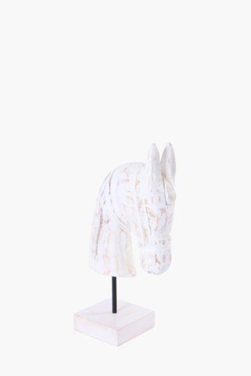 Horse Head On Plinth, Medium
