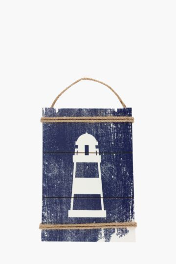Lighthouse Wooden Sign