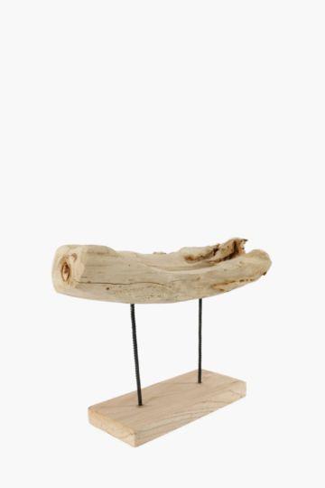 Rustic Log On Plinth