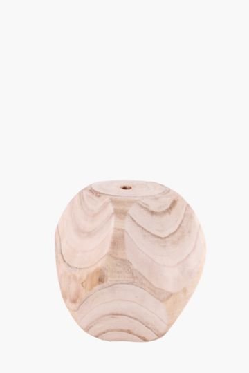 Wooden Facet Decor Ball