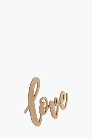 Love Lazer Cut Wood Sign