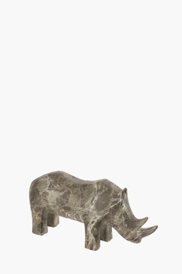Ceramic Rhino Statue