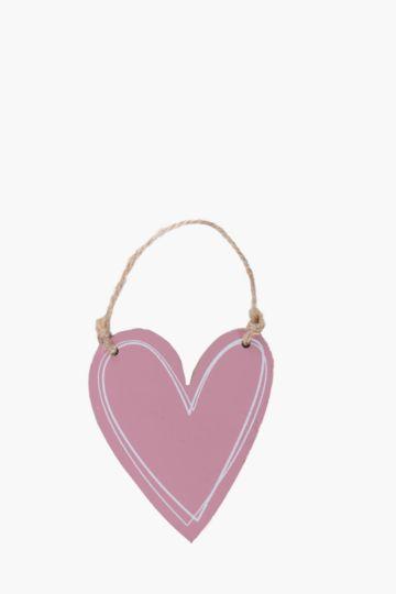 Wooden Scratch Hanging Heart