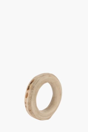 Raw Wood Standing Ring Small
