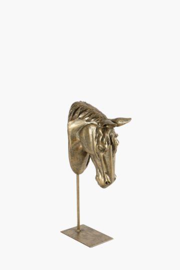 Horse Head On Plinth