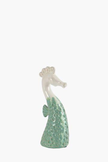 Glazed Seahorse Statue Large