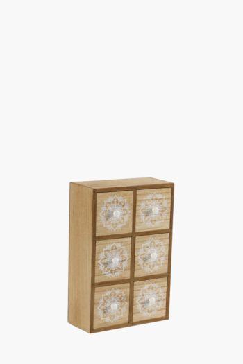 Moroccan 6 Drawer Box