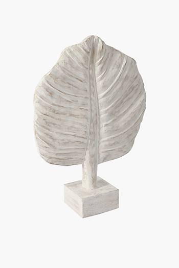 Wood Leaf On Plinth