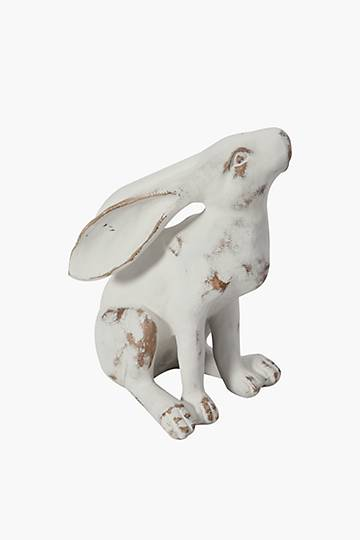 Washed Resin Hare Statue