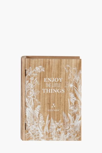 Floral Book Shaped Box