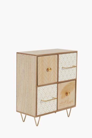 Wood 4 Drawer Box
