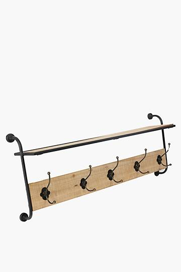 Industrial Wall Hook And Shelf