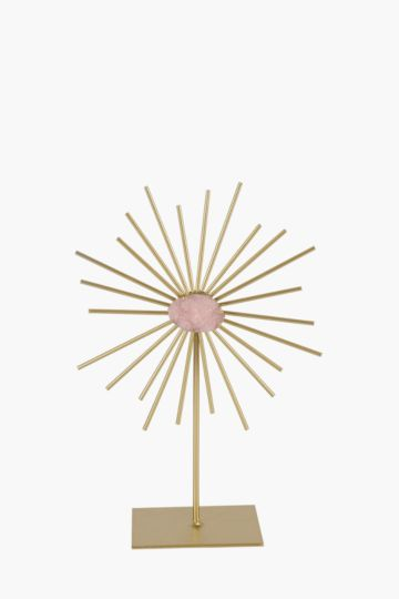 Metal Spiked Standing Decor