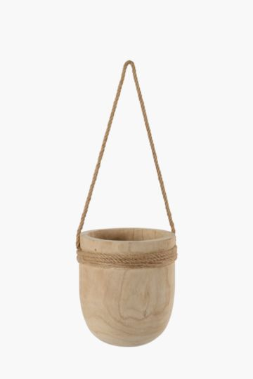 Wooden Hanging Planter Large