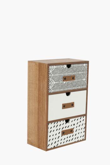 Wood 3 Drawer Box
