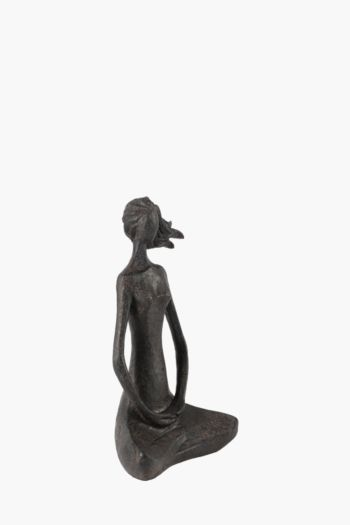 Seated Lady Statue Large