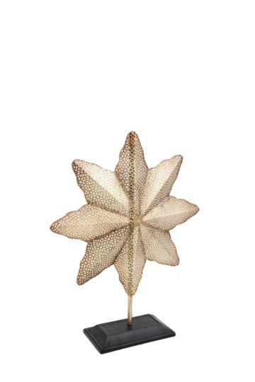Metal Starfish On Plinth