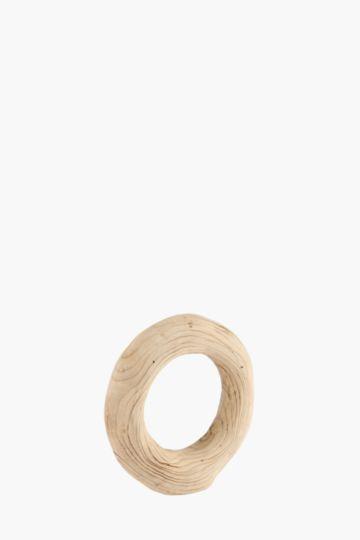 Wood Round Standing Wheel Small