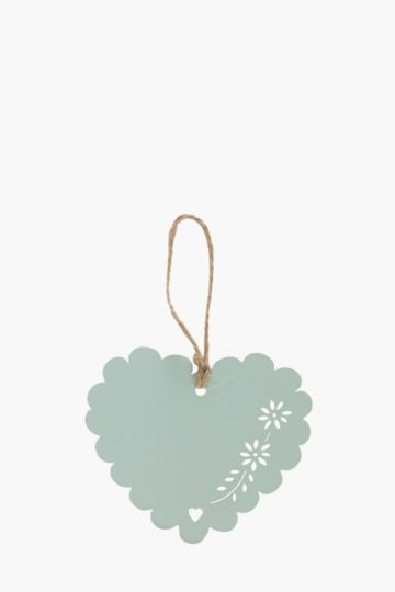 Dipped Scalloped Hanging Heart