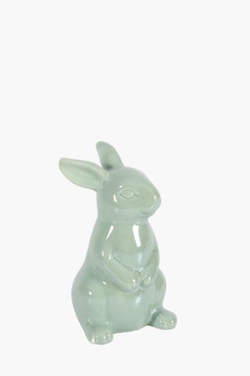Ceramic Pearlized Bunny Statue