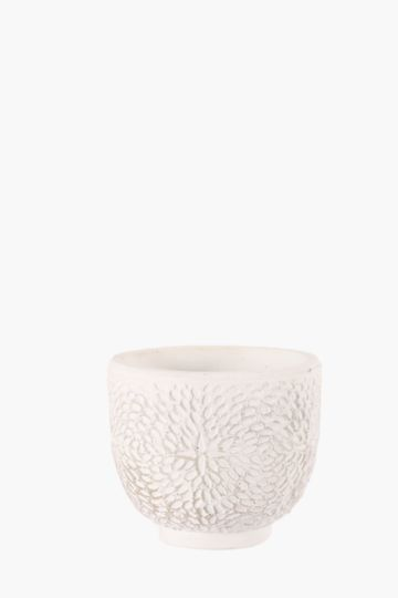 Ariel Cement Floral Planter, Small