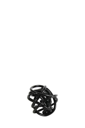 Glass Twisted Ball Small