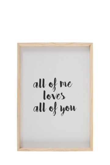 All Of You Plaque