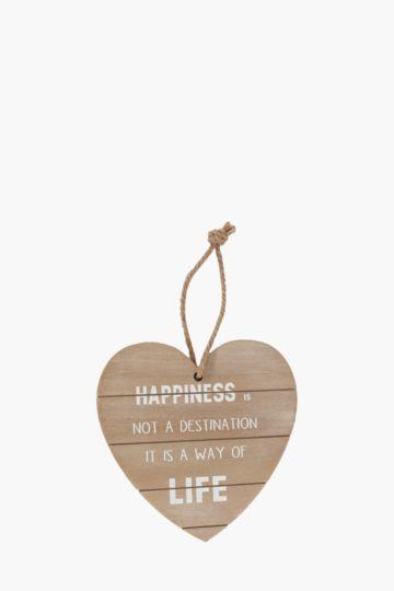 Heart Script Hanging Plaque