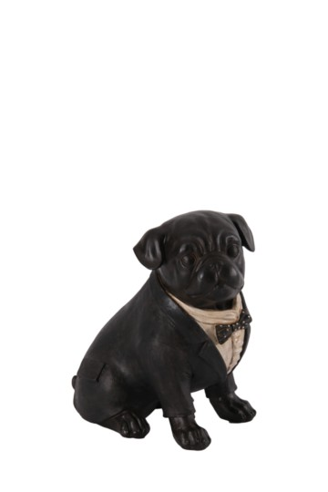 Chester Resin Pug Statue