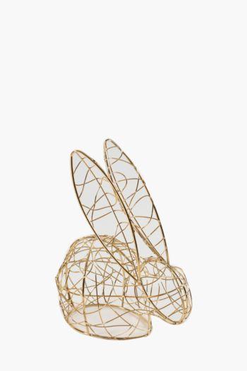 Wire Bunny Statue