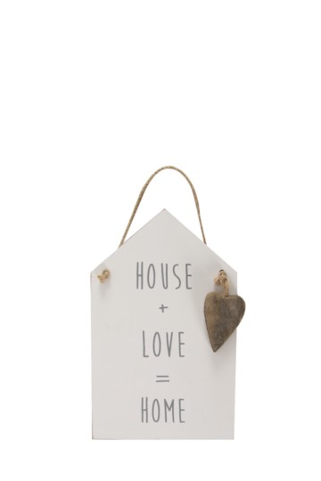 House Love Home Plaque