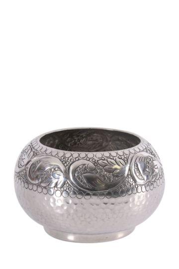Embossed Beaten Belly Vase Small