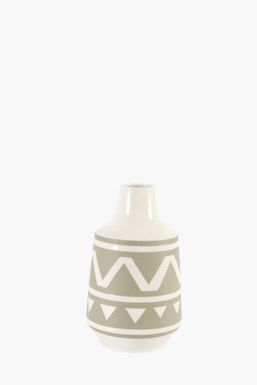 Tribal Geo Belly Vase