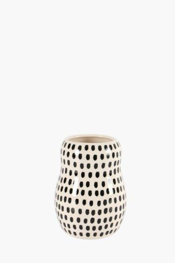 Afro Dot Belly Vase