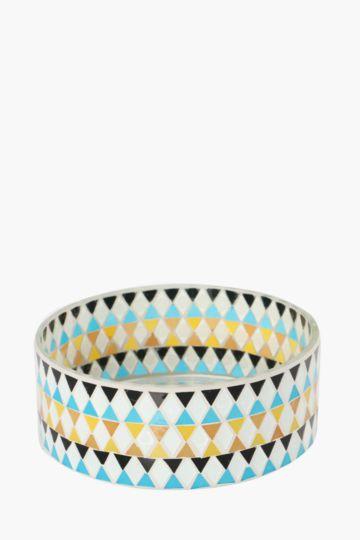 Afro Tribal Mosaic Cylinder Vase