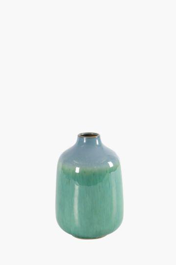 Glazed Ceramic Bulb Vase