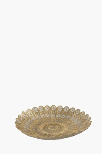 Punched Metal Flower Plate