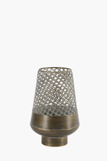 Metal Cut Out Vase