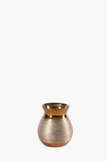 Metal Scratch Bud Vase