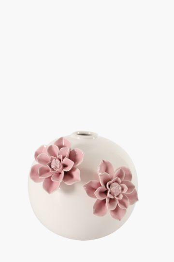 Floral Ceramic Bulb Vase